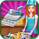 Supermarket Cash Register Girl by HangOnApps
