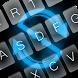 Neon Blue GO Keyboard Theme by keyboardthai