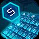 circuit blue keyboard technology by Keyboard Theme Factory