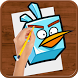 How to Draw :Angry Birds by Loenpia