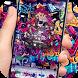 Rose skull graffiti lock screen desktop by Cool Theme Creator