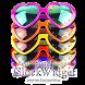 ハート型サングラスの時計ウィジェット5色パック by jfd