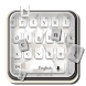 Pure white keyboard by Super Keyboard Theme