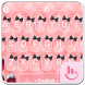 Luxury Pink Kitty Keyboard Theme by Fashion Cute Emoji