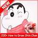 Learn to Draw Shin Chan by Zein App