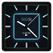 Blue Carbon Analog Watch Face by CritterMap Software LLC