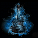 Blue Fire Guitar LWP by Daksh Apps