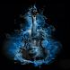 Blue Fire Guitar LWP by Daksh Apps