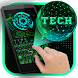 Green 3D Holographic Technology Earth Keyboard by Hello Keyboard Theme
