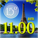 Paris Weather Clock Widget by Super Widgets