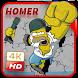 Homer Wallpaper HD 4k by rrawania