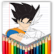 coloring dragon ball supers - DBS