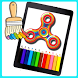 Fidget Spinner Coloring Book Pages by Toni Dev