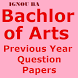 Previous years Question Papers IGNOU BA PDF by omashishstudy