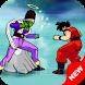 Dragon Goku Super Saiyan Battle by Micron Studio