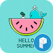 Hello Summer launcher theme by SK techx for themes
