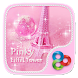 Pinky Eiffel Tower GO Launcher Theme by ZT.art