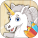 Unicorn coloring pages by Ancorma Apps
