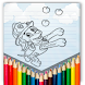 paw coloring pages patro