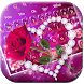 Shine Red Heart Rose Keyboard by Super Cool Keyboard Theme