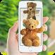 Teddy bear on phone, cute prank