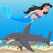 Mermaid vs Shark Attack by KG Tasarım