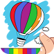 Finger Painting Coloring Pages by Pixel Envision Ltd.