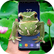 Frog on screen - Live wallpaper 2018