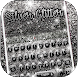 Silver Glitter Keyboard Theme