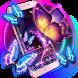 Neon butterfly keyboard by artant