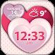 Hearts Weather & Clock Widget by Cuteness Inc.