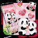 ????????Cute Pink Love Panda Launcher Theme by Hello Keyboard Theme