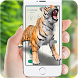 Tiger attack on screen prank