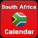 South Africa Calendar 2018 by CalendarCraft