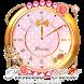 キラキラ姫系アラーム☆アナログ時計ウィジェット1 by jfd