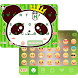 Cool Panda Emoji KeyboardTheme by Colorful Keyboard Theme Designer