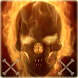 Flaming Skull Theme Skull Fire by Live.screen engineers