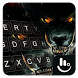Fire Dire Wolf Keyboard Theme by Sexy Free Emoji Keyboard Theme