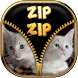 Kitty Zipper Screen by Zip Zip