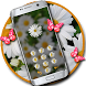 Butterfly flower lock theme by Free new hot colorful themes