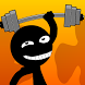 Stickman in the Gym by Swan Studio
