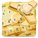 Golden Fidget Spinner Luxury Keypad Theme by Best theme for Android