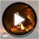 Burning wood fireplace by relaxation_mode