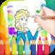Coloring Barbie Princess Book by Coloring Game Studio.