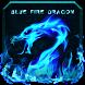 Blue Fire Dragon Keyboard Theme by B-P Theme Design Studio