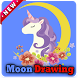 crescent moon drawing by Solutions Dev