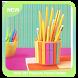 Cute DIY Popsicle Pencil Holder by Asmadias