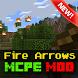 Fire Arrows Addon Minecraft PE by Gq mods studio