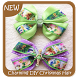 Charming DIY Christmas Hair Bows by GoDream Studio