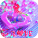 Pink Butterfly Loving Heart by Theme Lovely